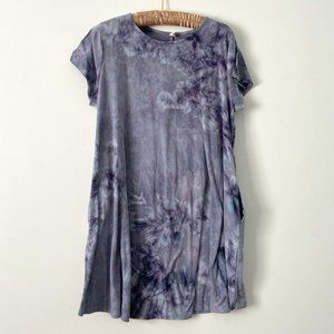 Pinkblush Maternity Purple Tie Dye Dress w/Pockets